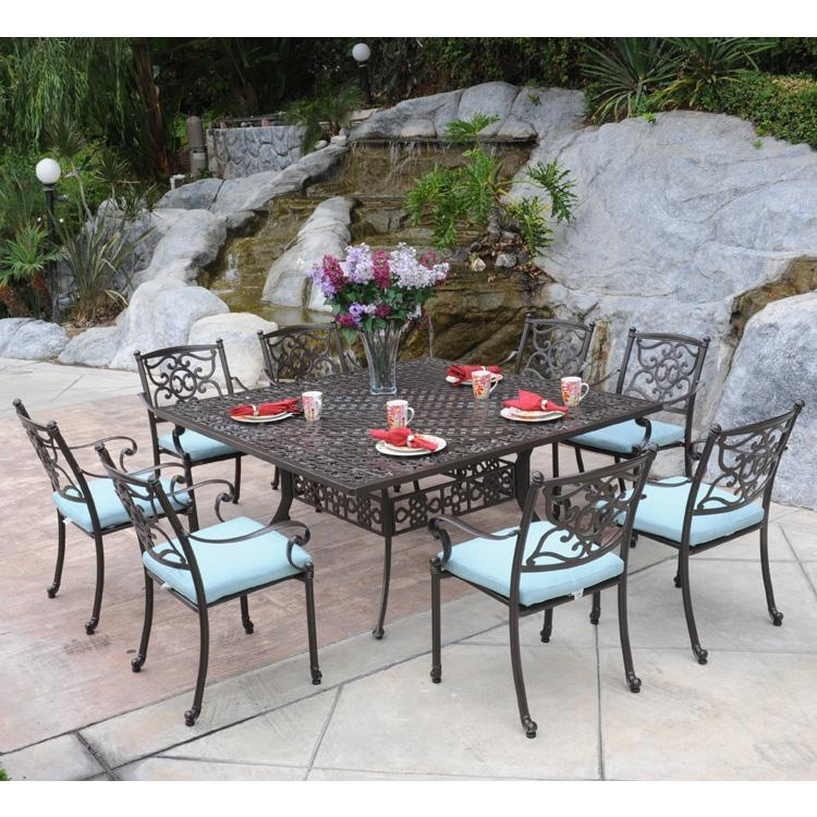Creative Of 8 Seat Outdoor Dining Set Outdoor Dining Chairs With Regard To 8 Seat Outdoor Dining Tables (Image 5 of 20)