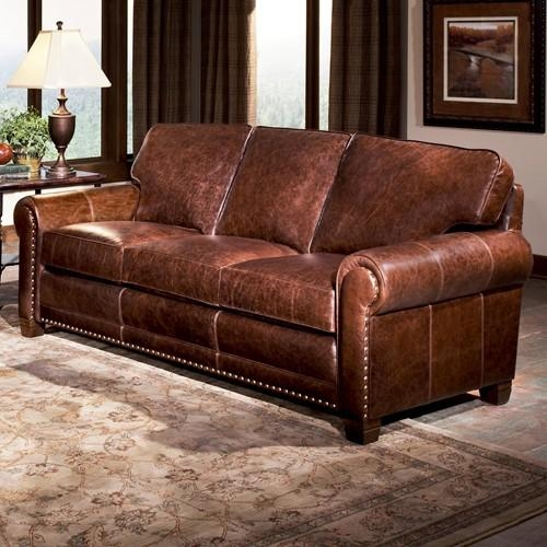 Creative Of Nailhead Leather Sofa With Traditional Top Grain With Regard To Brown Leather Sofas With Nailhead Trim (Image 8 of 20)