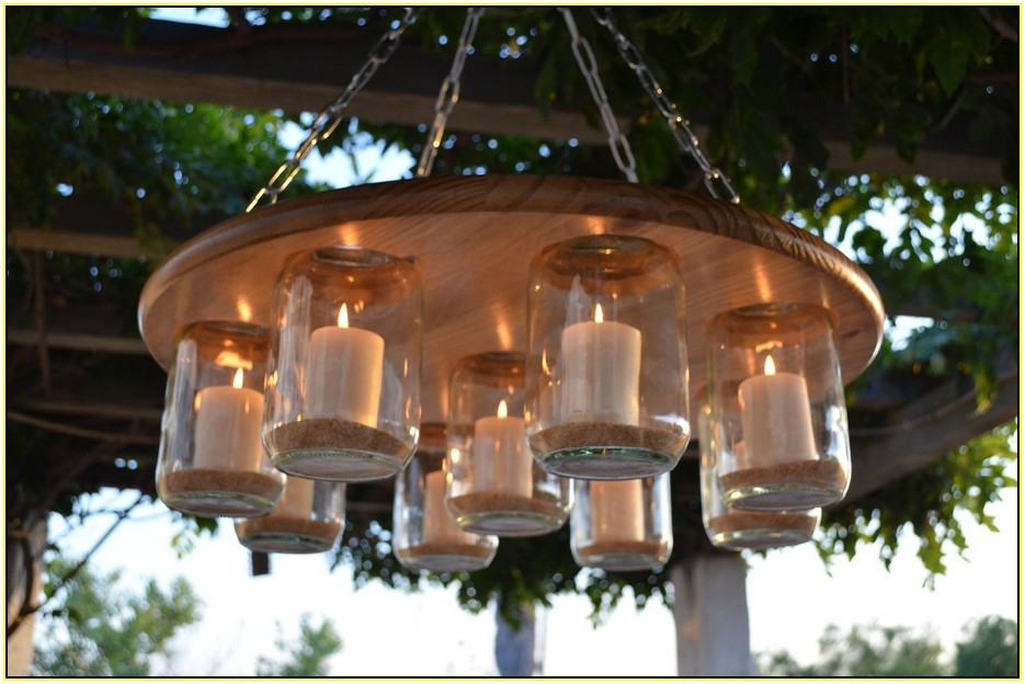 Creative Outdoor Candle Chandelier Diys Home Lighting Design Ideas With Regard To Hanging Candle Chandeliers (Image 12 of 25)