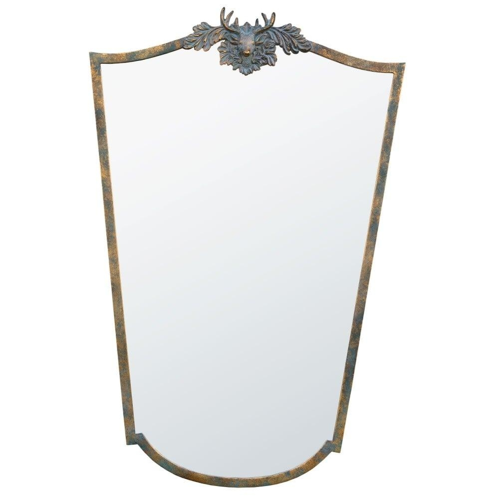 Crest Antique French Style Wall Mirror Throughout French Wall Mirror (Image 7 of 20)