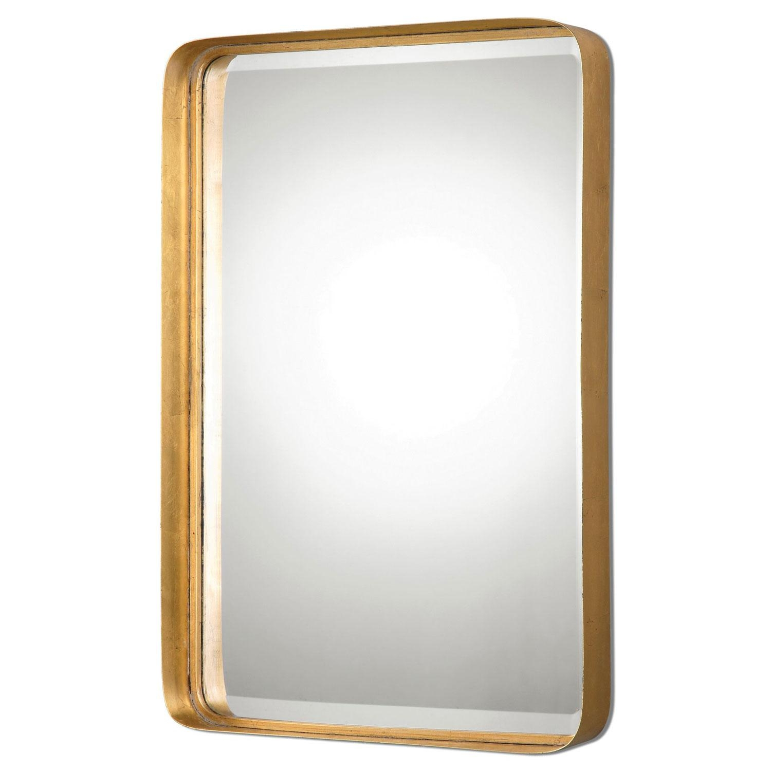 Crofton Antique Gold Mirror Uttermost Wall Mirror Mirrors Home Decor With Gold Wall Mirrors (Image 3 of 20)