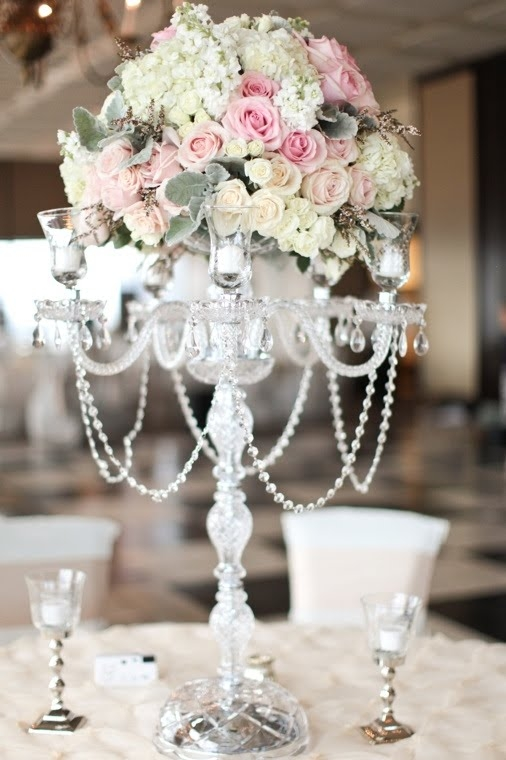 Crystal Candelabra Wedding Rentals Tampa Candelabra Candelabra Inside Faux Crystal Chandelier Centerpieces (View 9 of 25)