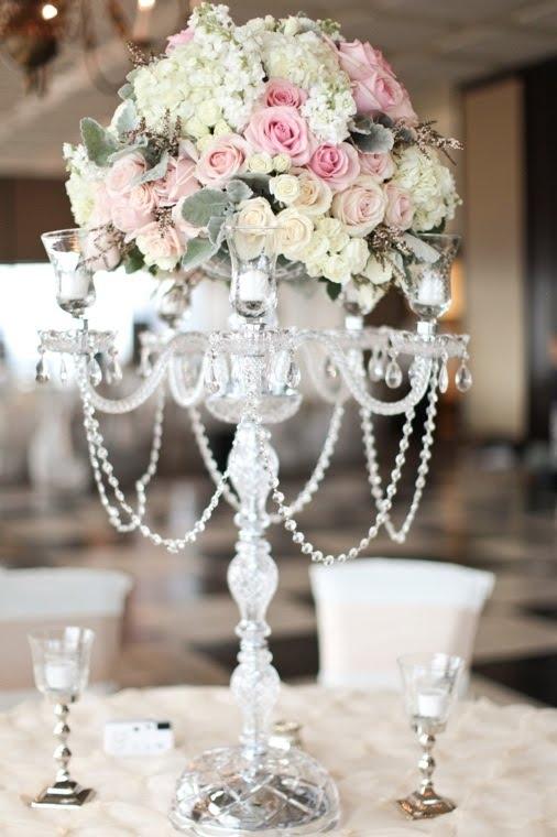 Crystal Candelabra Wedding Rentals Tampa Candelabra Candelabra Inside Faux Crystal Chandelier Centerpieces (Image 15 of 25)