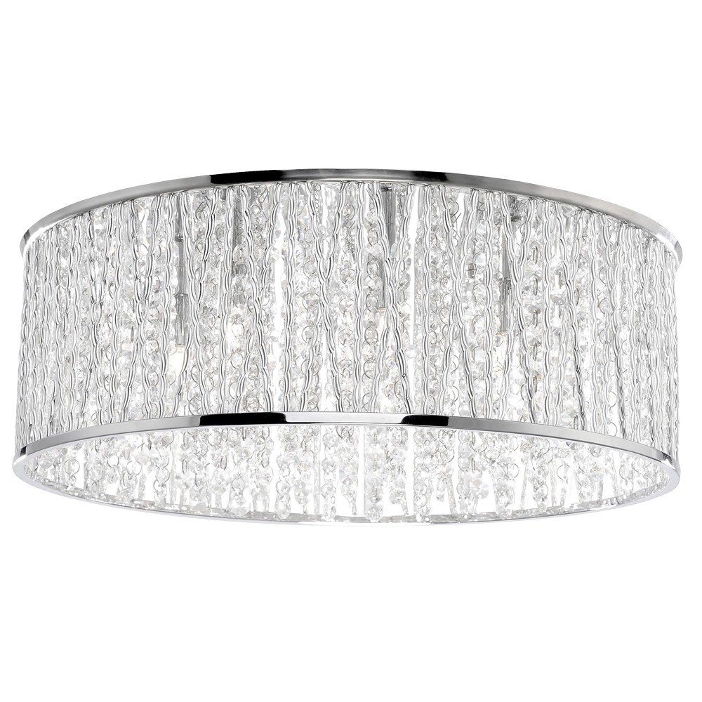 Crystal Ceiling Lights Ceiling Lights Pagazzi Lighting Pertaining To Flush Chandelier Ceiling Lights (Image 11 of 25)