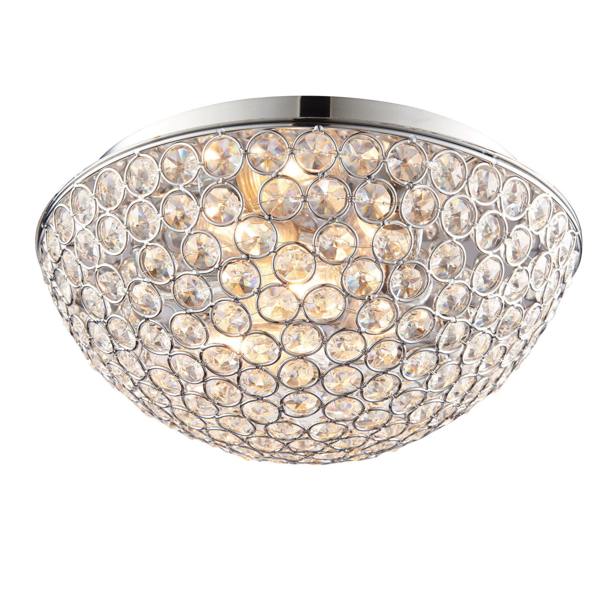 Crystal Ceiling Lights Uk Winda 7 Furniture Within Flush Chandelier Ceiling Lights (Image 12 of 25)
