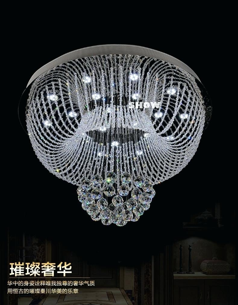 Crystal Chandelier Ball New Round Crystal Ceiling Chandelier With Multi Colored Gypsy Chandeliers (Image 14 of 25)