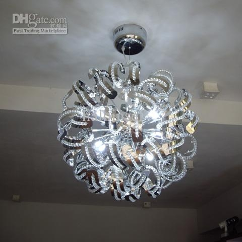 Crystal Chandelier Christmas Crystal Ball Snowball Crystal In Crystal Ball Chandeliers Lighting Fixtures (Image 7 of 25)