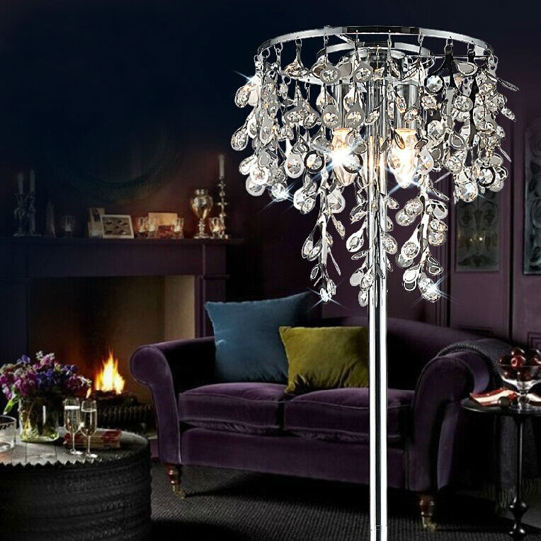 Crystal Chandelier Floor Lamp Crystal Chandelier Floor Lamp Intended For Crystal Chandelier Standing Lamps (Image 10 of 25)