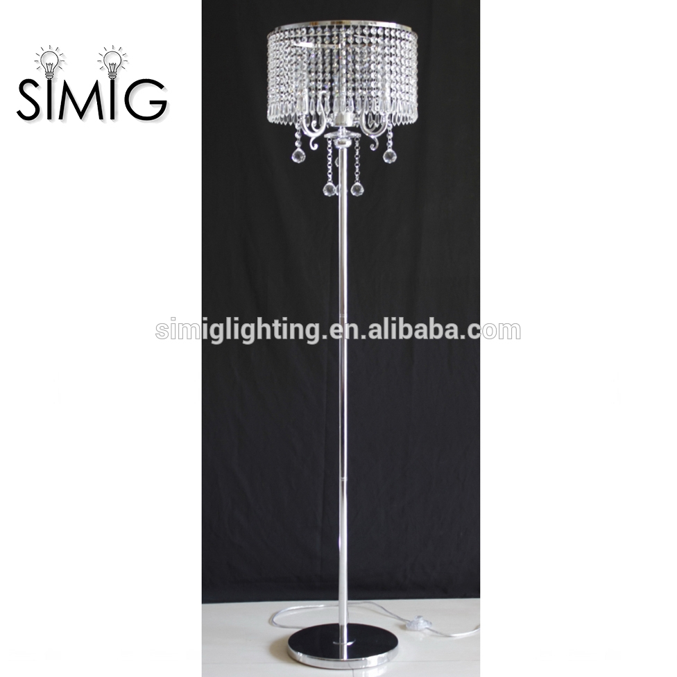 Crystal Chandelier Floor Lamp Crystal Chandelier Floor Lamp Intended For Stand Up Chandeliers (Image 10 of 25)