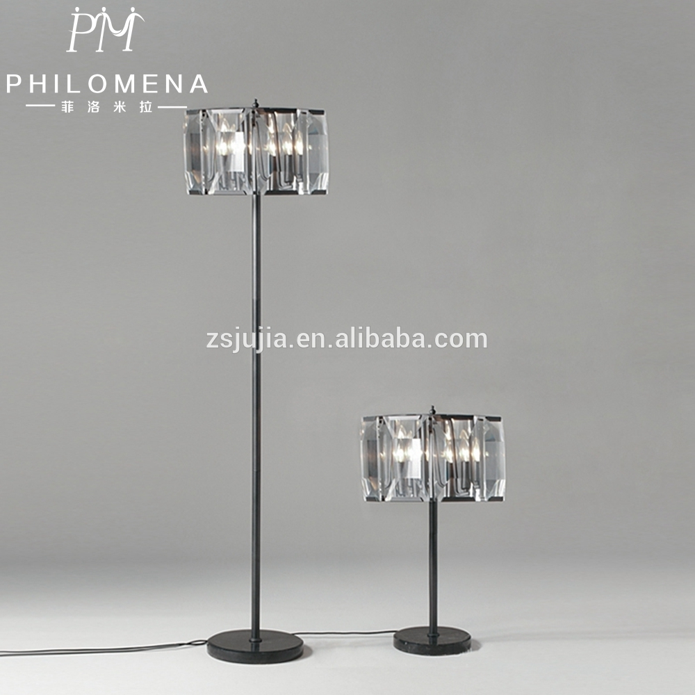 Crystal Chandelier Floor Lamp Crystal Chandelier Floor Lamp Throughout Free Standing Chandelier Lamps (Image 9 of 25)