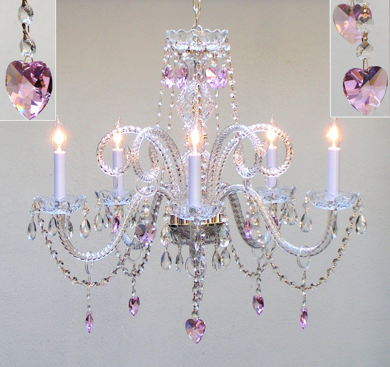 25 Inspirations Crystal Chandeliers For Baby Girl Room