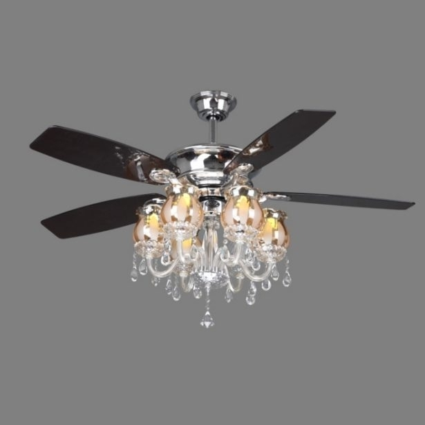 Crystal Chandelier Light Kit For Ceiling Fan Lightupmyparty Intended For Chandelier Light Fixture For Ceiling Fan (Image 20 of 25)