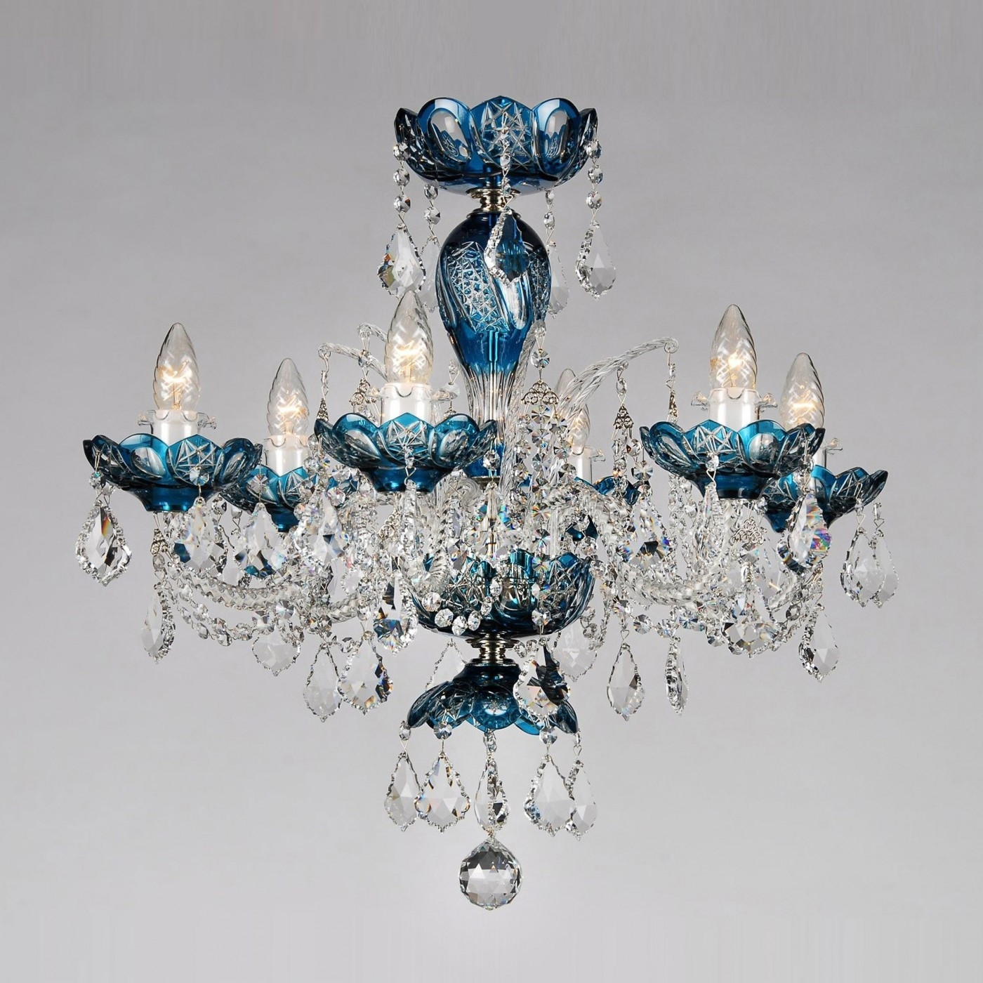 Crystal Chandeliers Merry Crystal Inside Turquoise Chandelier Crystals (Image 15 of 25)