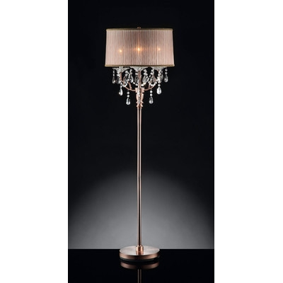 Crystal Floor Lamps Universalcouncil For Crystal Chandelier Standing Lamps (Image 13 of 25)