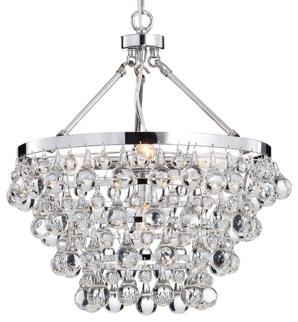 Crystal Glass 5 Light Luxury Chandelier Chrome Contemporary With Chandelier Bathroom Lighting Fixtures (Image 14 of 25)