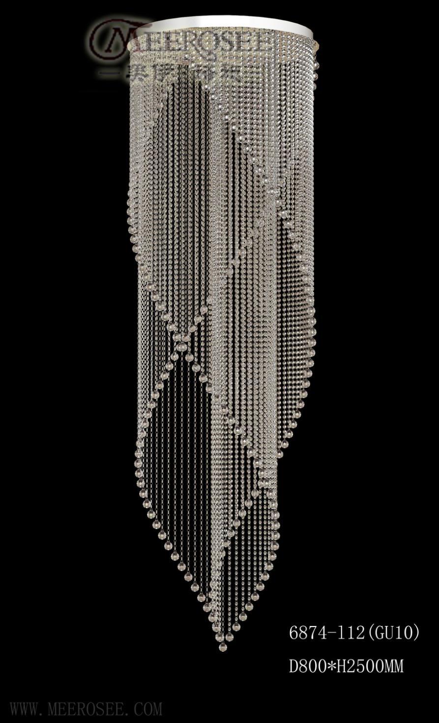 Crystal Lighting Fixtures Chandeliers Modern Crystal 6 Light Regarding Hallway Chandeliers (Image 11 of 25)