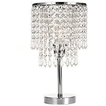 Crystal Rod Iron Table Lamp 1920s Essex Contemporary Modern Desk With Regard To Chandelier Night Stand Lamps (Image 15 of 25)