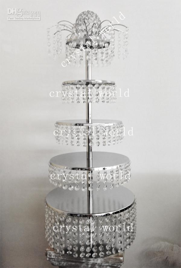 Crystal Tall Wedding Candelabra Centerpiece Wedding Chandelier Pertaining To Faux Crystal Chandelier Centerpieces (View 11 of 25)