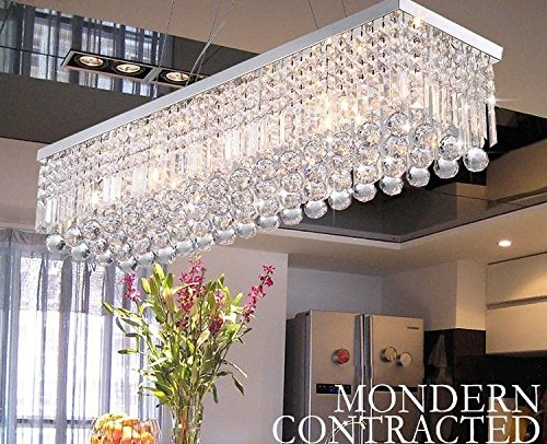 Crystop Clear K9 Crystal Chandelier Dining Room Light Fixtures Inside Chandelier Bathroom Lighting Fixtures (Image 15 of 25)