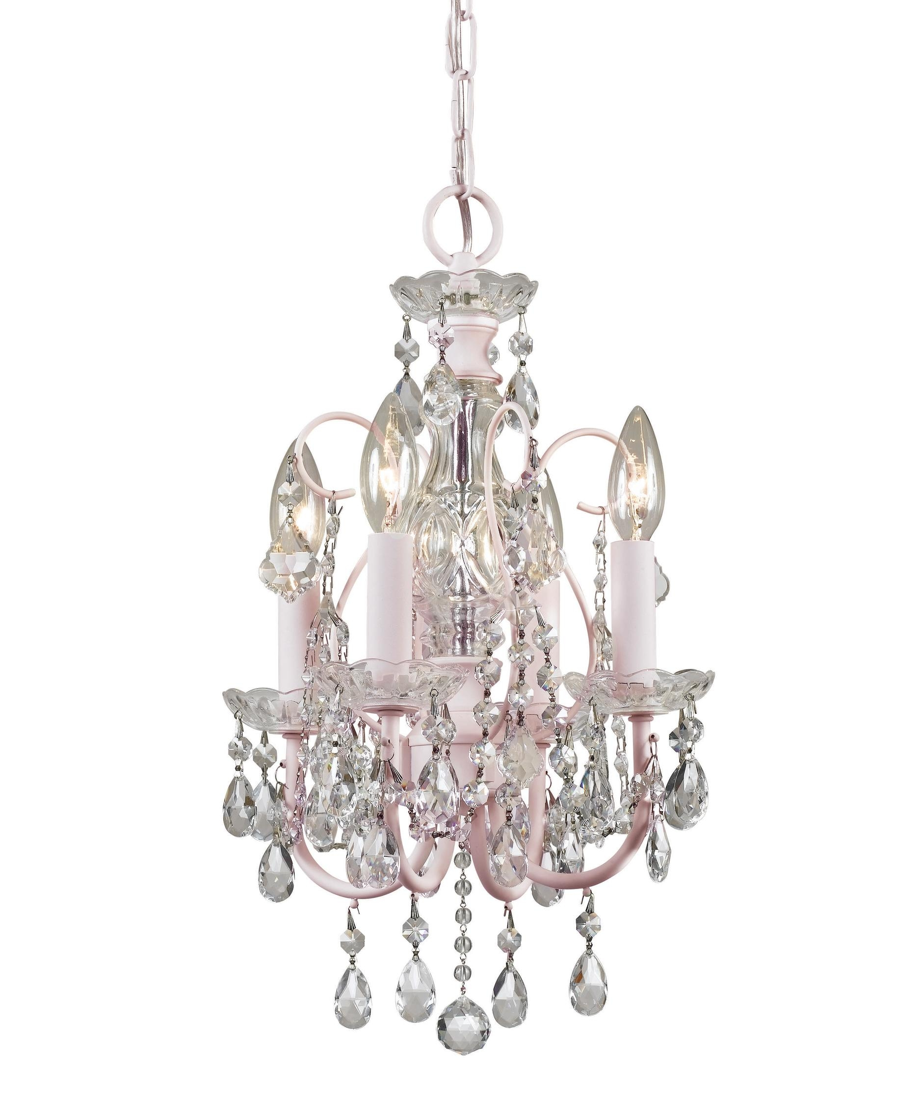 Crystorama 3224 Imperial 14 Inch Wide 4 Light Mini Chandelier Pertaining To Mini Crystal Chandeliers (View 20 of 25)
