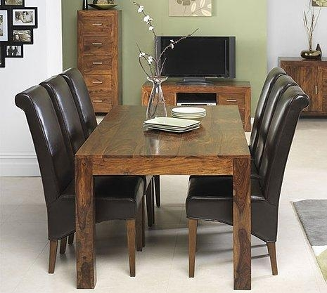 Cuba Sheesham Dining Table Large | Oak Furniture Solutions With Regard To Sheesham Dining Tables (Image 5 of 20)