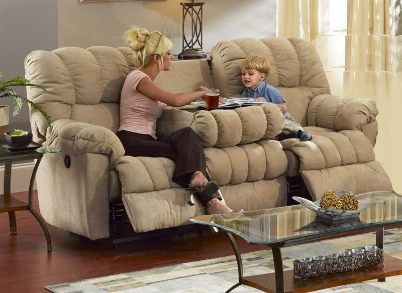 Cuddler Saddle Suede Cloth Reclining Sofacatnapper – Manual For Catnapper Reclining Sofas (Image 7 of 20)