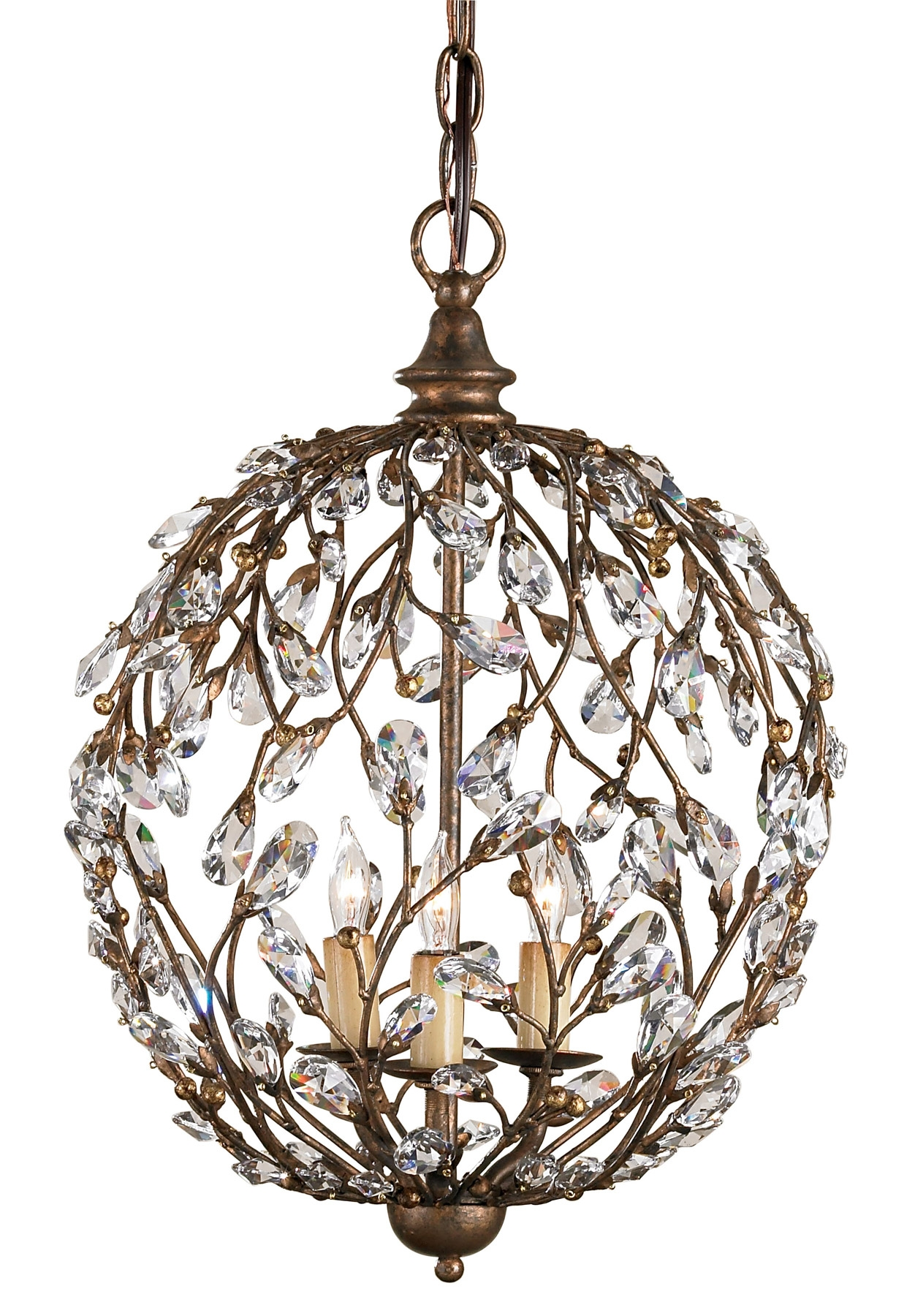 Currey And Company 9883 Crystal Crystal Bud Mini Chandelier For Mini Crystal Chandeliers (View 16 of 25)