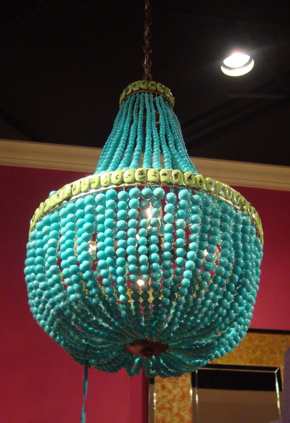 Currey Co Turquoise Chandelier Laura Covington Interiors For Turquoise Chandelier Lights (Image 13 of 25)