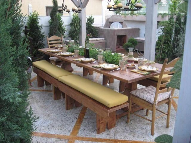 Custom Made Dining Table With Built In Herb Gardenoldpine With Regard To Garden Dining Tables (Image 9 of 20)