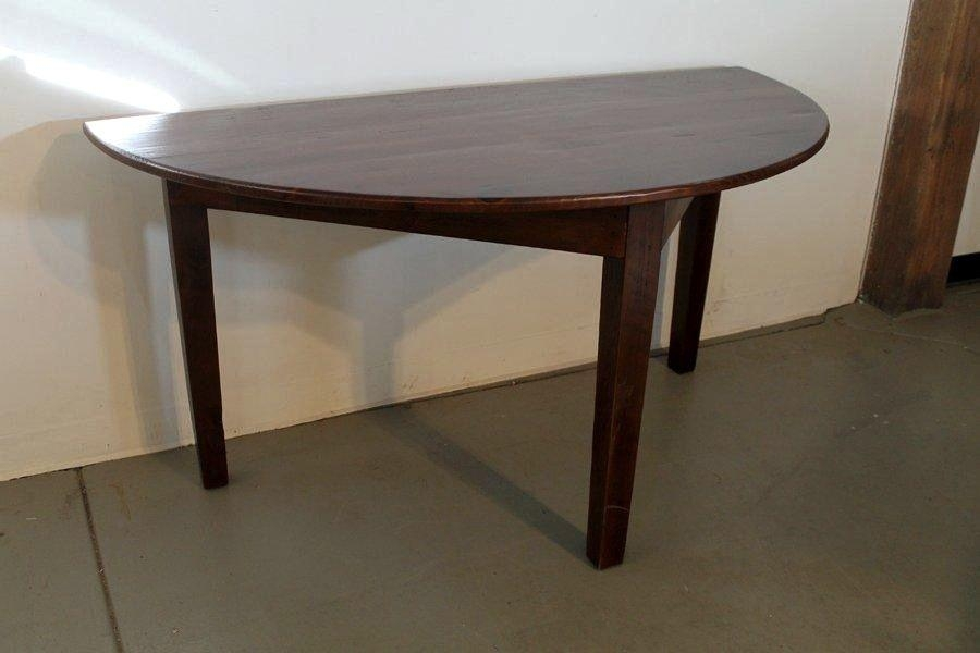 Custom Made Small Half Circle Dining Tableecustomfinishes With Regard To Circle Dining Tables (Image 12 of 20)