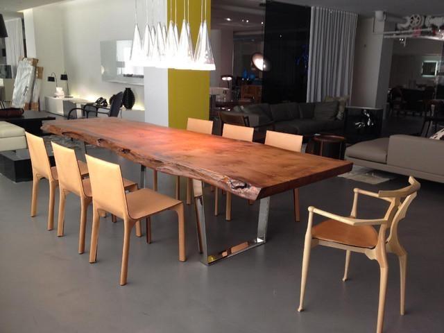 Custom Redwood Slab Table – Dining Room – New York  Custom Throughout Dining Tables New York (Image 7 of 20)