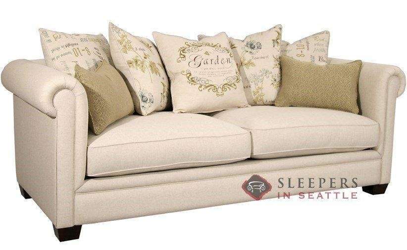Customize And Personalize Chardonnay Queen Fabric Sofafairmont Inside Queen Sofa Beds (Image 6 of 20)