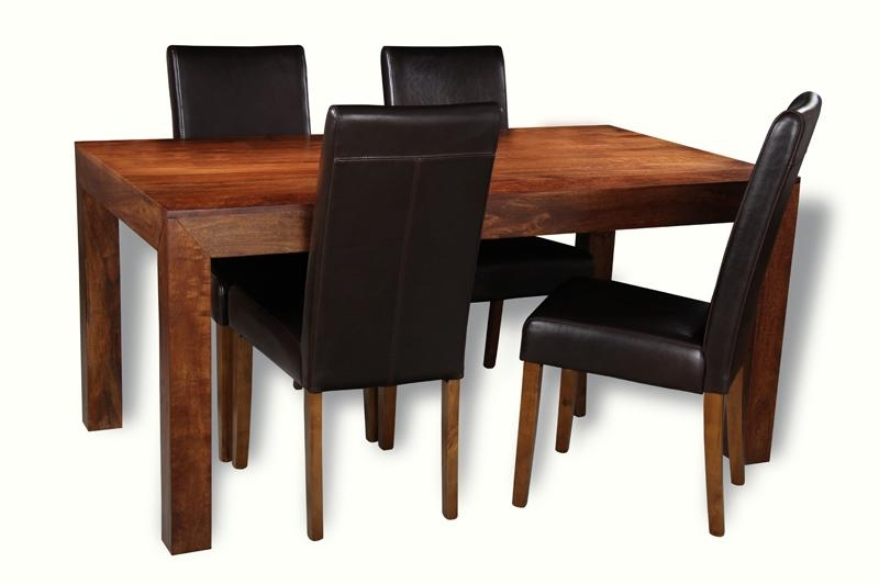 Dakota 160Cm Dining Table & 4 Barcelona Chairs Throughout Barcelona Dining Tables (Image 12 of 20)