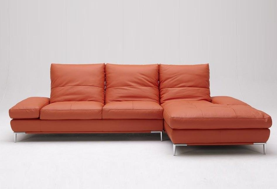 Dali Vg Modern Orange Sectional Sofa | Leather Sectionals Regarding Orange Modern Sofas (Image 5 of 20)