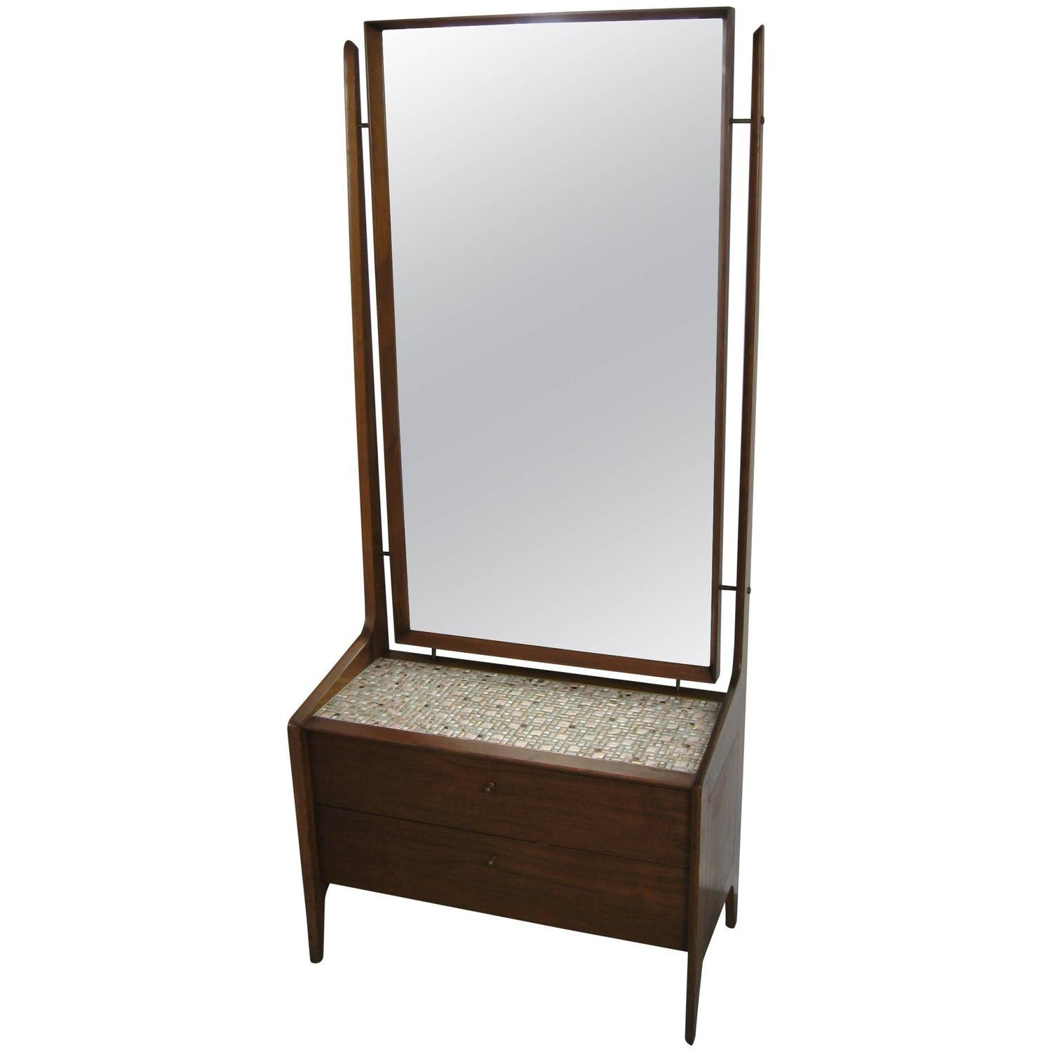 Danish Modern Cheval Mirrorarne Vodder, Circa 1960S For Sale In Modern Cheval Mirror (Image 12 of 20)
