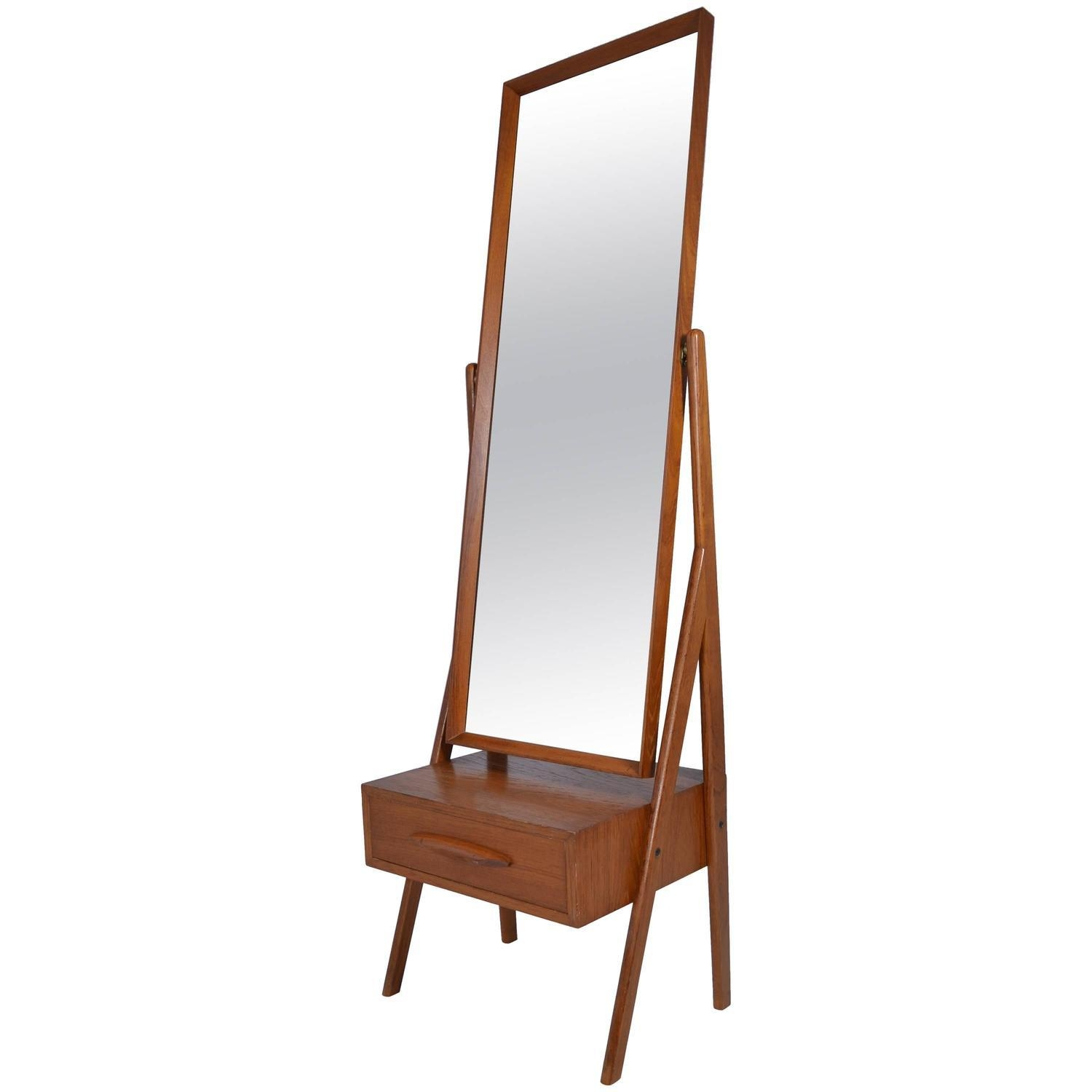 Danish Modern Cheval Mirrorarne Vodder, Circa 1960S For Sale With Regard To Modern Cheval Mirror (Image 13 of 20)