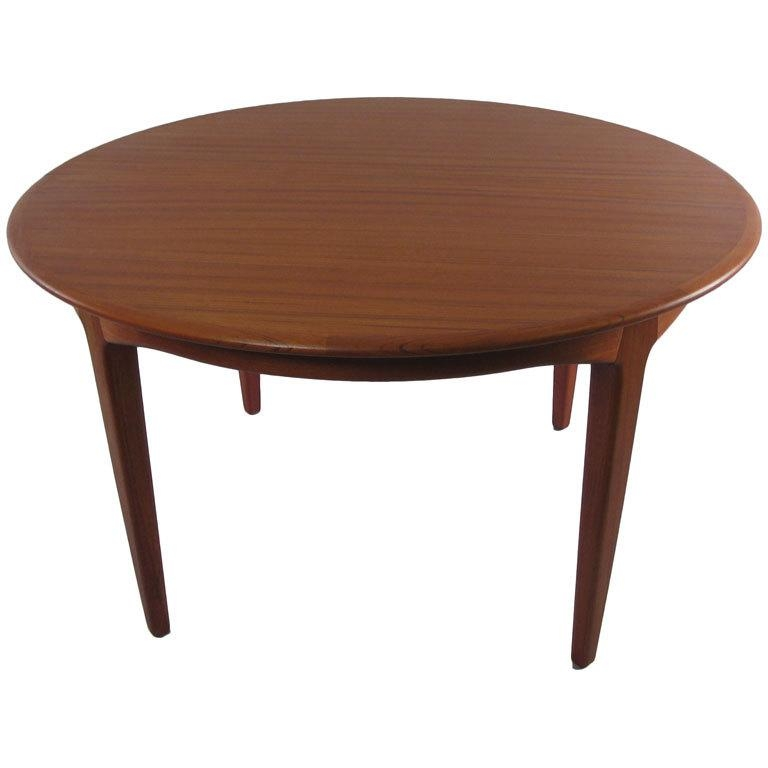 Danish Modern Dining Table Nyc Vintage Danish Modern Teak Dining With Regard To Round Teak Dining Tables (Image 4 of 20)