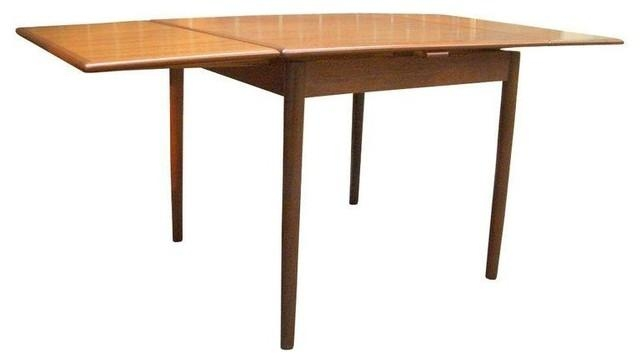 Danish Modern Teak Draw Leaf Dining Table – Midcentury – Dining Pertaining To Danish Dining Tables (View 13 of 20)