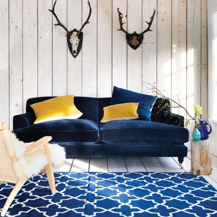 Dark Blue Sofa (View 17 of 20)