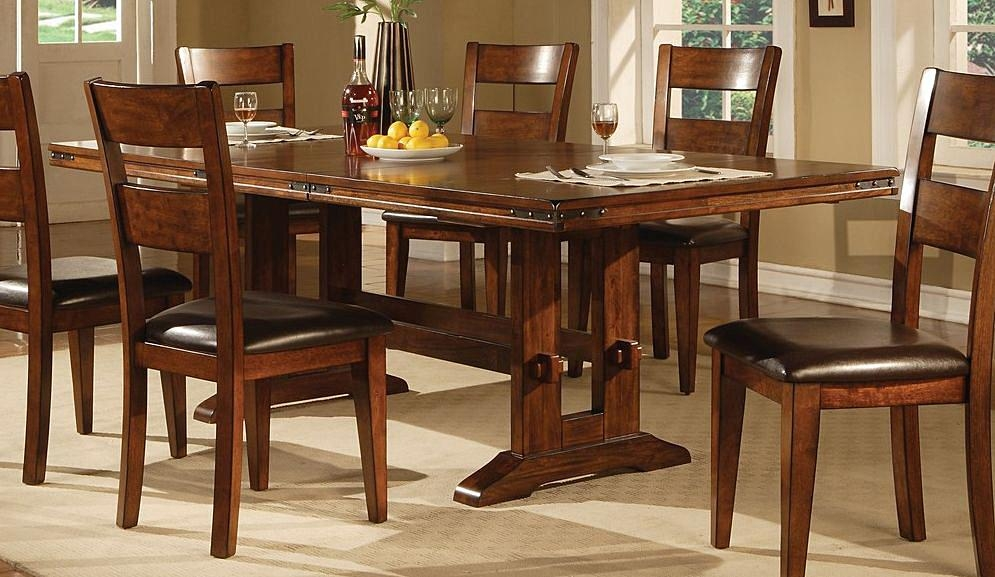 Dark Wood Dining Table (Image 11 of 20)