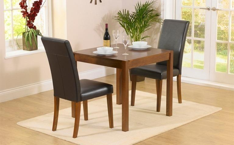 Dark Wood Dining Table Sets | Great Furniture Trading Company Regarding Two Seater Dining Tables And Chairs (Image 9 of 20)