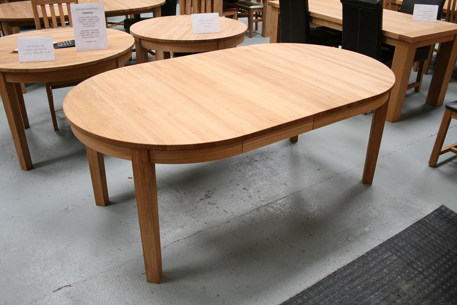 Dark Wood Oval Extending Dining Table | Ideasidea Inside Round Dining Tables Extends To Oval (Image 5 of 20)