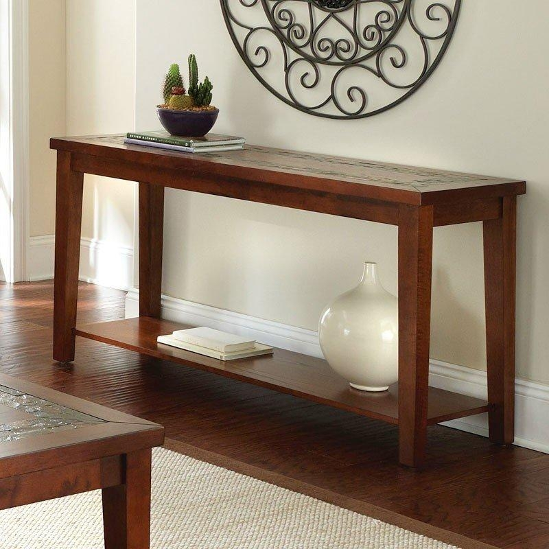 Davenport Slate Sofa Table Steve Silver Furniture | Furniture Cart Throughout Slate Sofa Tables (Image 5 of 20)