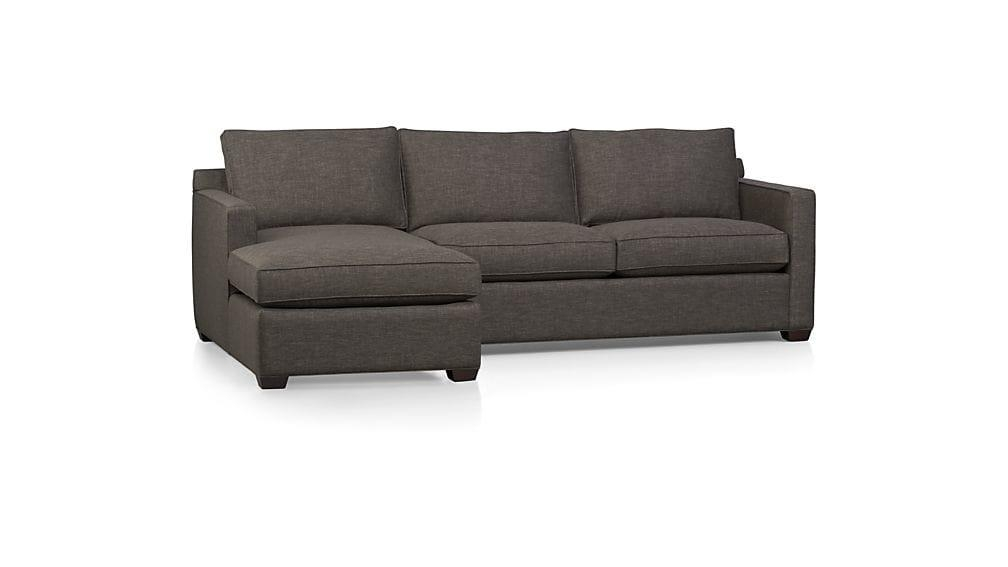 Davis 2 Piece Sectional Sofa | Crate And Barrel Throughout 2 Piece Sectional Sofas (Image 10 of 20)