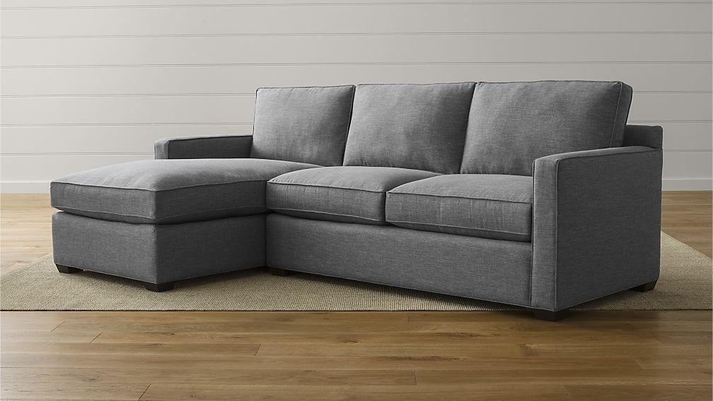 Davis 2 Piece Sectional Sofa | Crate And Barrel Within Davis Sofas (Image 4 of 20)