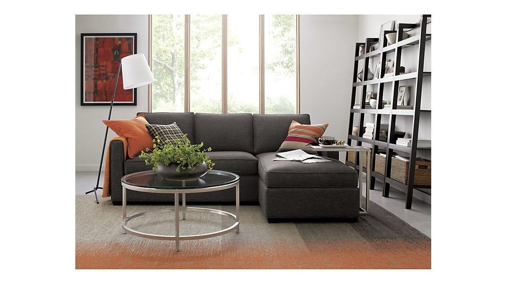 Davis Sectional Lounger | Crate And Barrel Intended For Davis Sofas (Image 13 of 20)