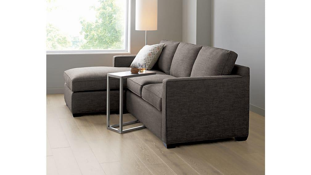 Davis Sectional Lounger | Crate And Barrel Throughout Davis Sofas (Image 14 of 20)