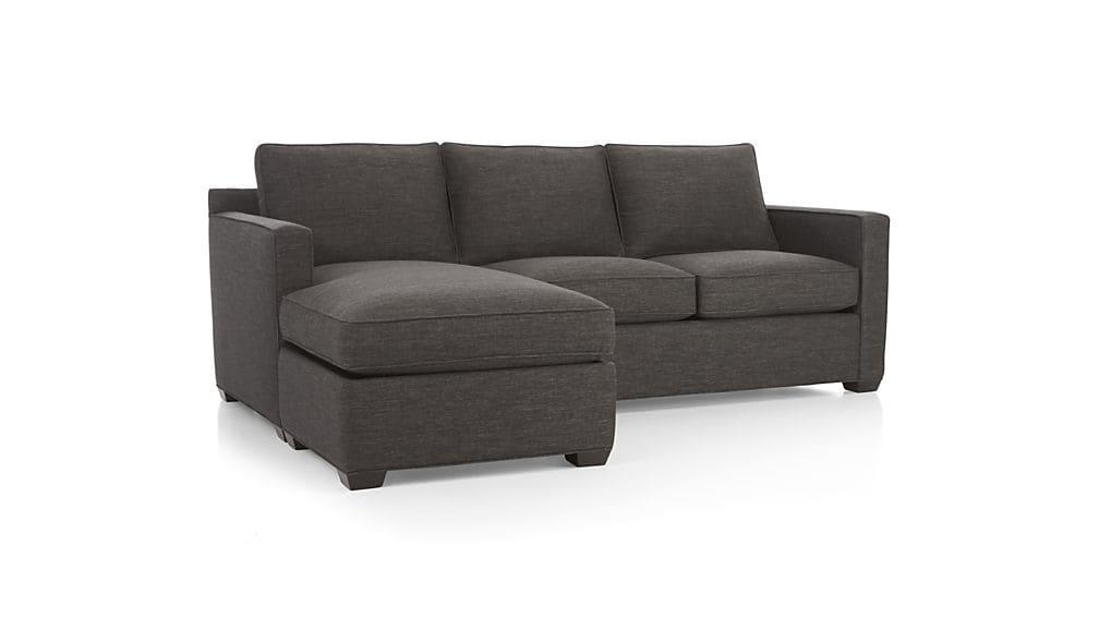 Davis Sectional Lounger | Crate And Barrel With Regard To Davis Sofas (Image 15 of 20)