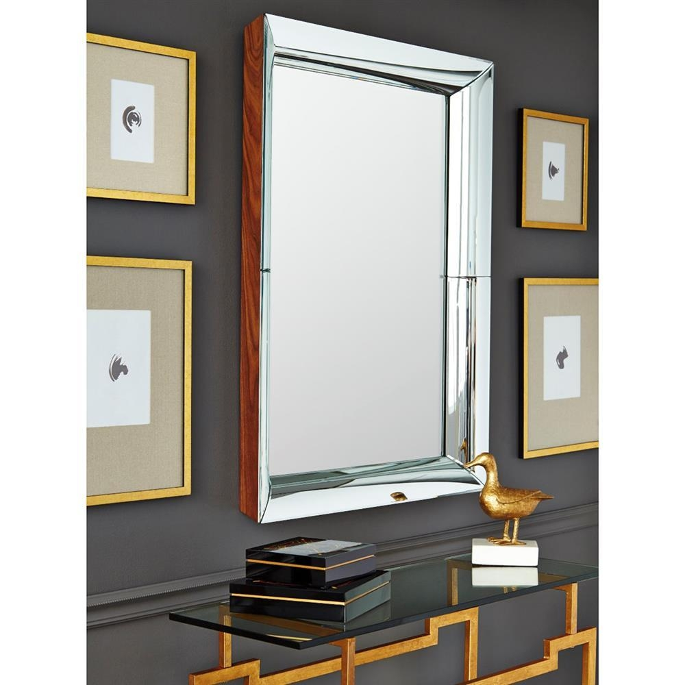 Dawn Modern Classic Pieced Concave Wall Mirror | Kathy Kuo Home With Concave Wall Mirror (View 11 of 20)