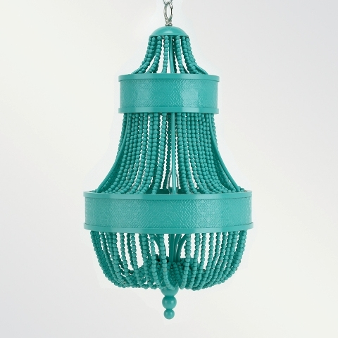 Day 9 Of Things I Loveturquoise Chandeliers Tobi Fairley Inside Turquoise Beaded Chandelier Light Fixtures (Image 19 of 25)